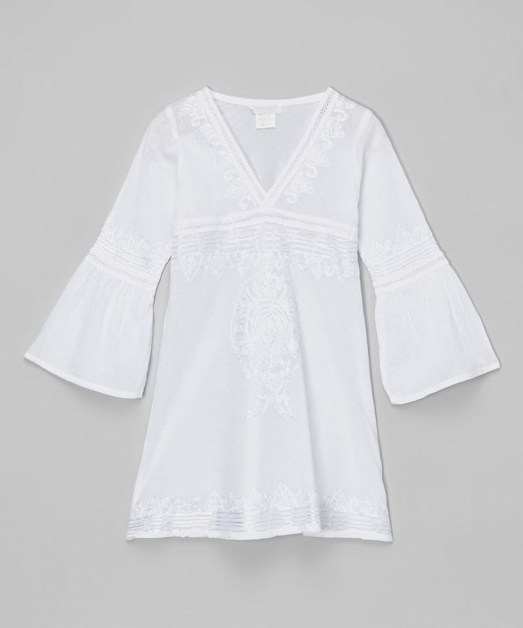 Look at this White Tunic - Toddler on #zulily today!