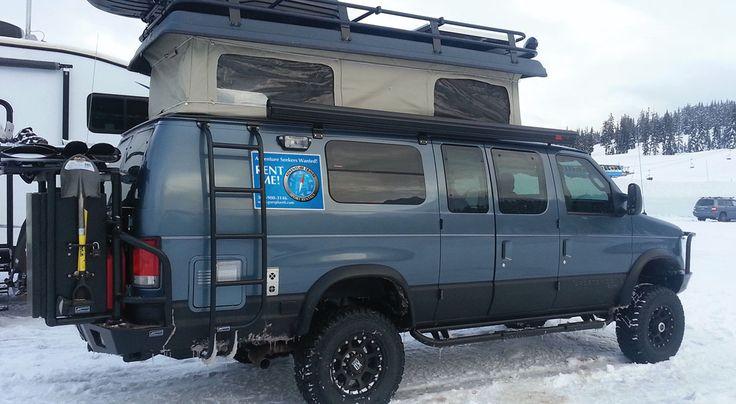 sportsmobile interior | February 18, 2014, 18″ of skiing Cascade concrete.