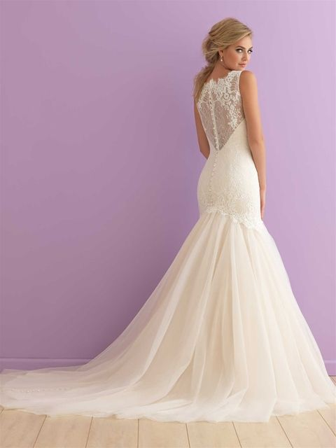 Allure Romance 2911 Whispers of lace and ethereal tulle forge an undeniably feminine blend of textures.