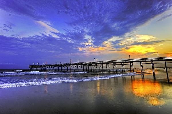 HDR photo of the Sunset Beach, North Carolina fishing pier at ... go figure ... sunset :)
