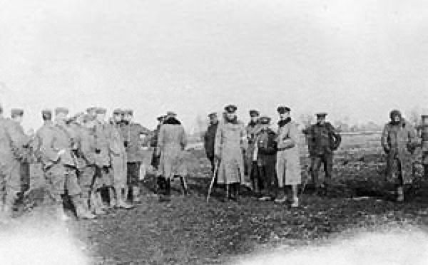 Photo of the Christmas Truce near Ypres, France on Christmas 1914