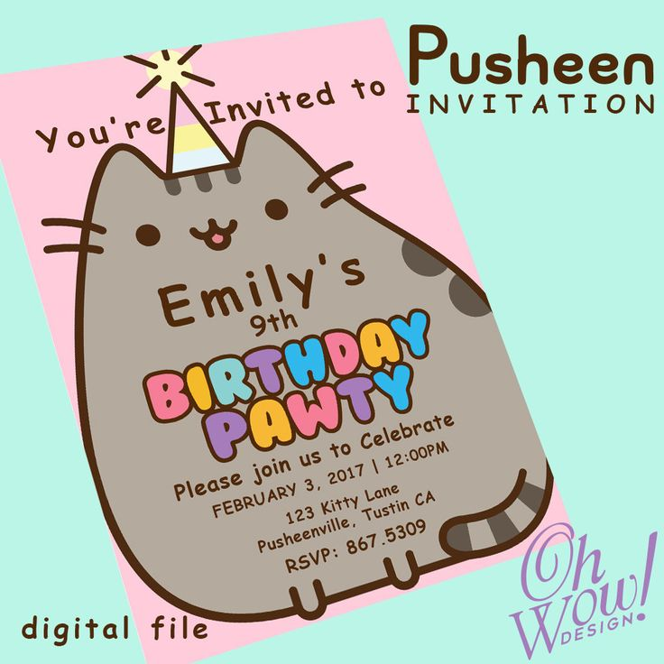 Best 25 Cat themed parties ideas – Cat Party Invitations