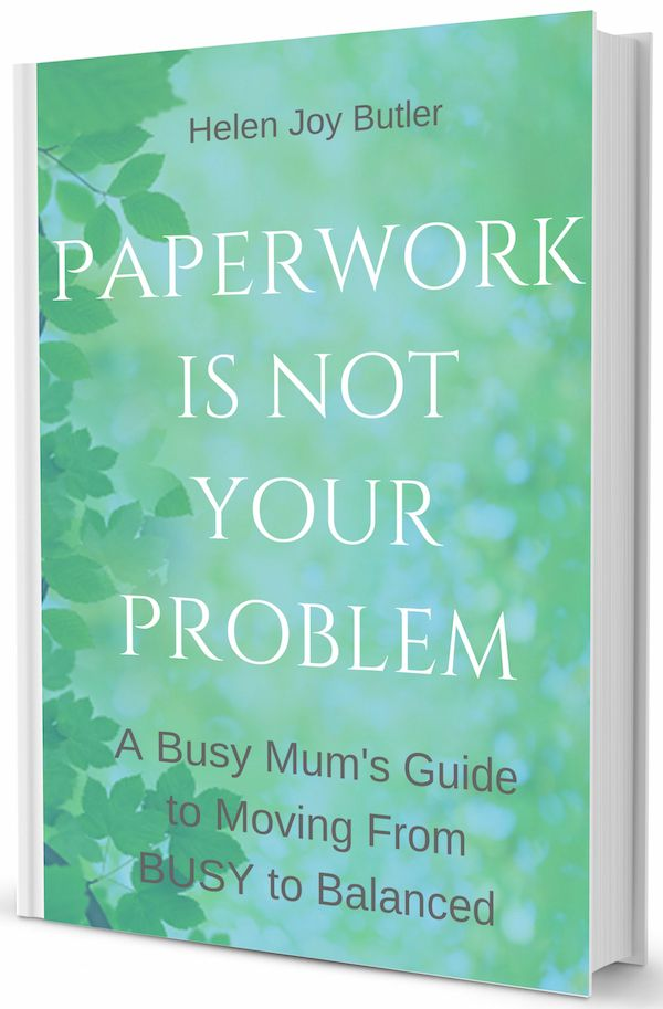 The 'Paperwork Is Not Your Problem' paperback is on sale! Sale price $20 + postage (save $7.95). On sale until 21 June - don't miss out! #helenjoybutler #clutterrescue #organising #decluttering #eofy #endoffinancialyear #sale