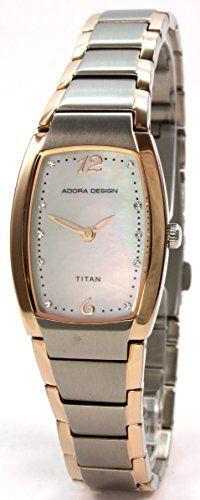 Adora Design 60088.6BC Bicolor Titan Damenuhr Metallband - http://uhr.haus/adora/adora-design-60088-6bc-bicolor-titan-damenuhr