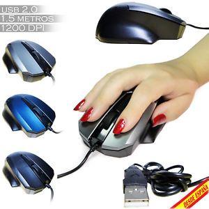 a raton ordenador optico con cable usb 20 1200 dpi portatil pc gaming mouse