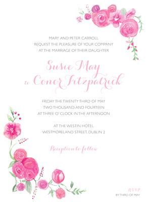 Soft Roses Invitation