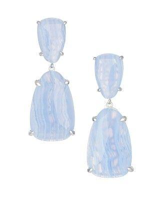 Katie Statement Earrings in Blue Lace Agate - Kendra Scott Jewelry.