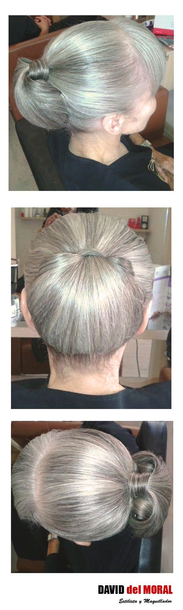 Recogido en cabello con cana natural.