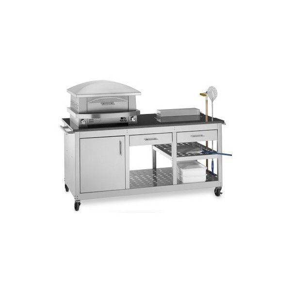 Kalamazoo Artisan Fire Outdoor Pizza Oven & Pizza Station ($15,090) ❤ liked on Polyvore featuring home, kitchen & dining, small appliances, outside pizza oven, outdoor propane oven, propane pizza oven, bread oven and outdoor bread oven