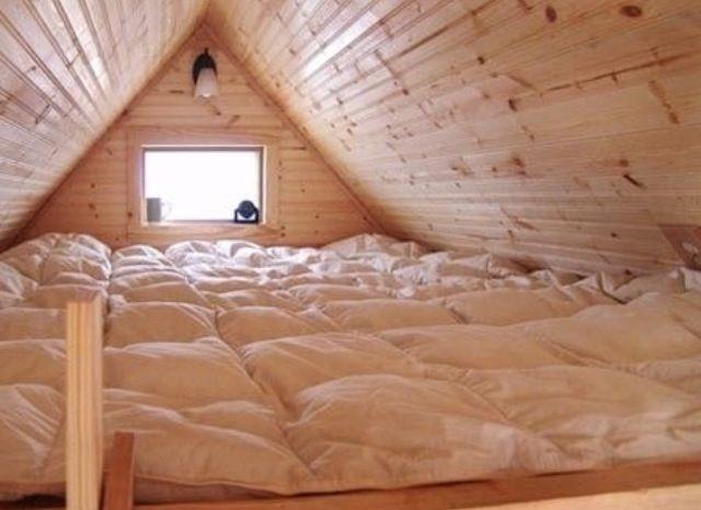 mattress covered loft...ideal sleepover area!too cool!