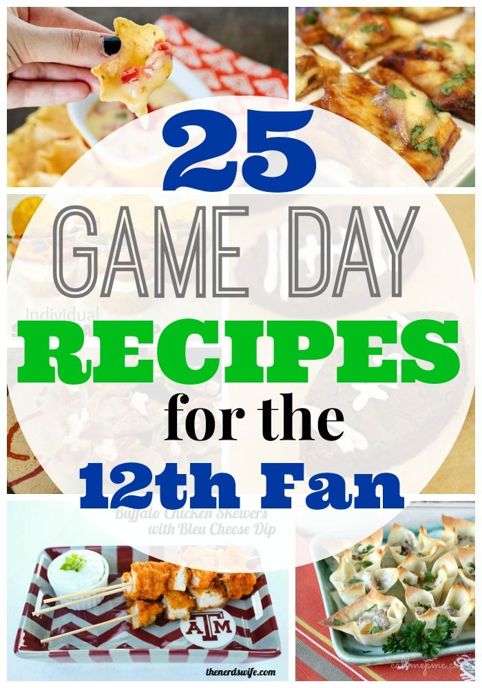 Football season is here!! Whip up these 25 Game Day Recipes for the 12th Fan.