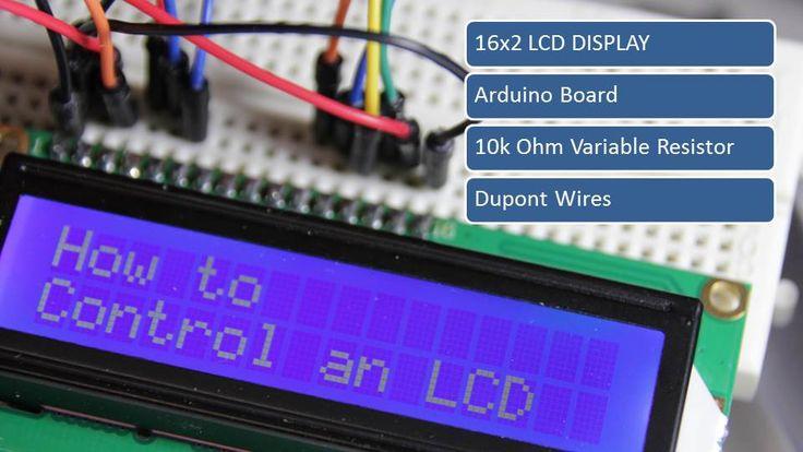 Control an LCD display using an Arduino Uno.