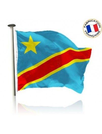 Drapeau République Démocratique du Congo Made In France by Manufêtes