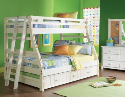 shop for a creekside white wash twin full bunk bedroom at rooms to go kids find that will look great in your home and complement the rest of your