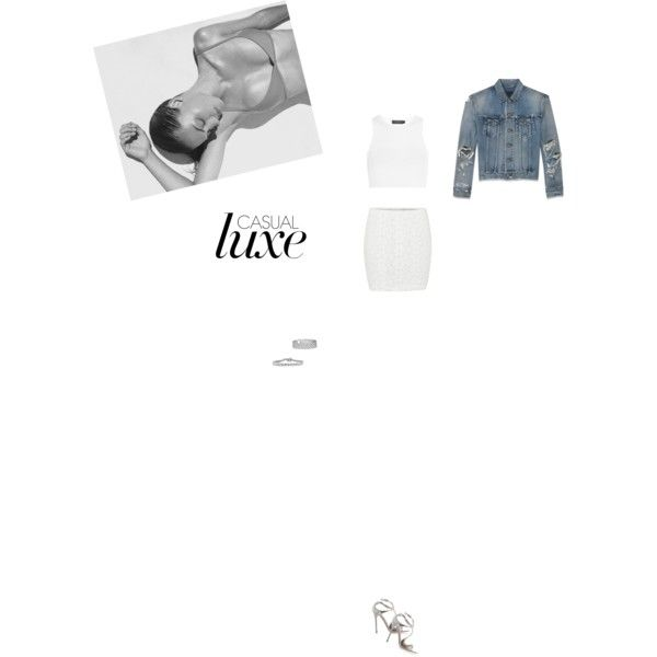 Bez tytułu #105 by izabelmaz on Polyvore featuring moda, Calvin Klein Collection, Yves Saint Laurent, Vero Moda, Jimmy Choo, Blue Nile and Mark Broumand