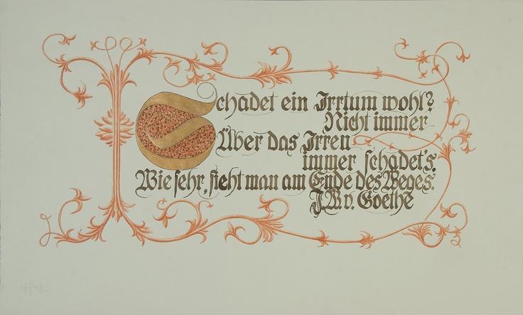 Schadet ein Irrtum wohl?...  Johann-Wolfgang von Goethe