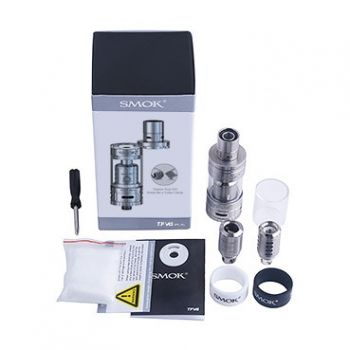 Buy Smok TFV4 Mini Kit from Haze Smoke Shop of Vancouver Canada online and retail stores.he TFV4 Mini is a compact tank from SMOK. With 22 mm in diameter, this mini tank matches a wide range of mods. Featuring eight brand new cores: TF-CLP2, TF-S6, TF-RCA, TF-Ti, TF-N2, TF-N2 Air Core, TF-T2, and TF-T2 Air Core, it's designed to bring you unexpected vaping experience.