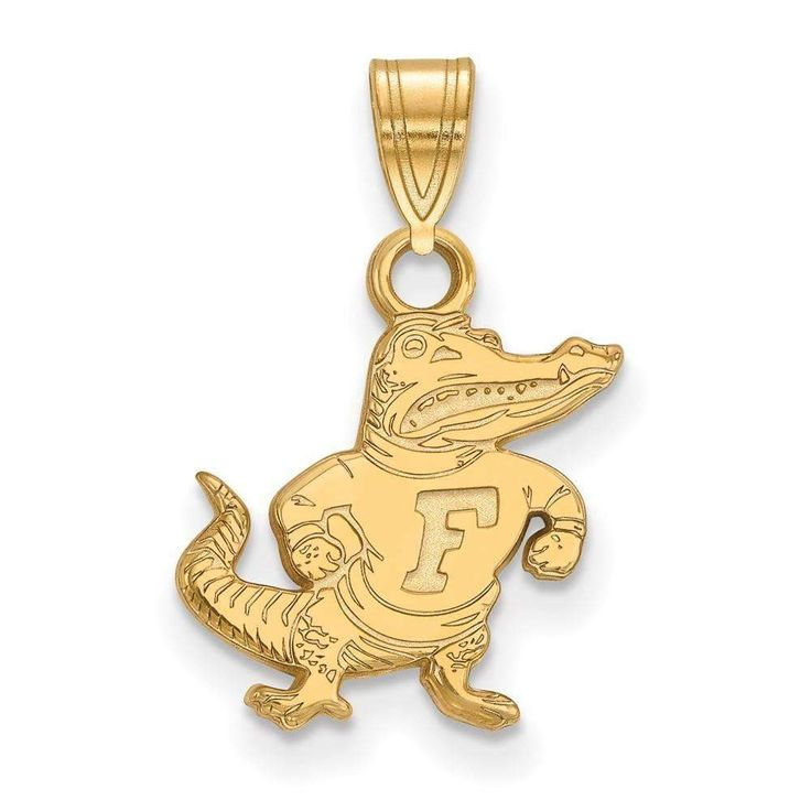 14ky LogoArt University of Florida Small Pendant