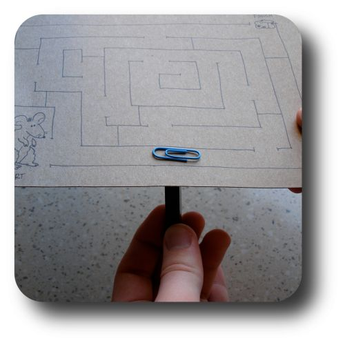 paperclip and magnet maze