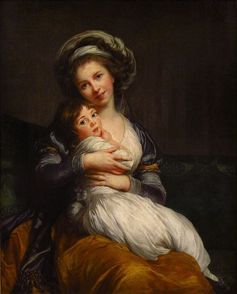 Self-portrait with her daughter Julie (1786) by Elisabeth-Louise Vigee-Le Brun