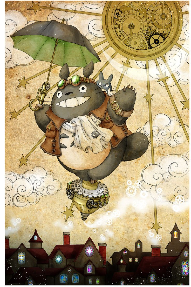 Steampunk Totoro. My life is complete