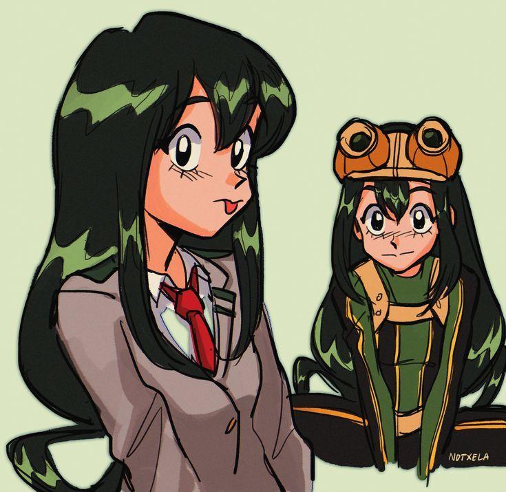 90s Tsuyu Asui Cartoon My Hero Academia Tsuyu Hero