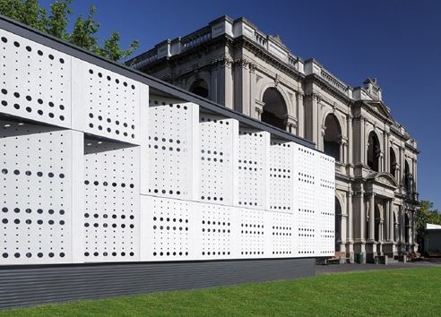 Hayball Architects Caulfield School Australia Perforated Equitone Facade Panels