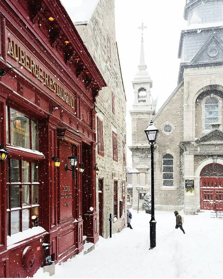 Old Montreal, went there in the winter time. Enjoyed good food and good company in a charming city.