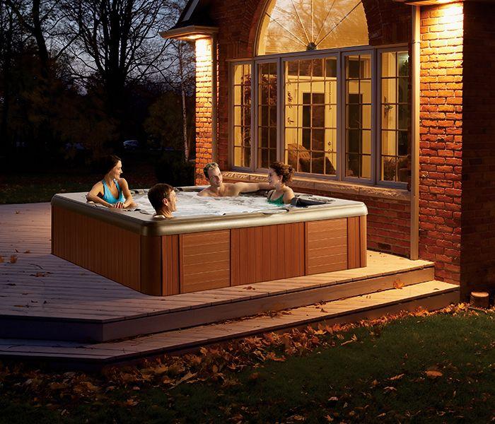 les 65 meilleures images du tableau deco spas hot tub sur pinterest jacuzzi spas et club. Black Bedroom Furniture Sets. Home Design Ideas