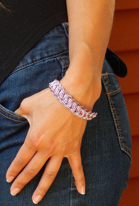 Pink Feminine Bracelet by ChainMettle