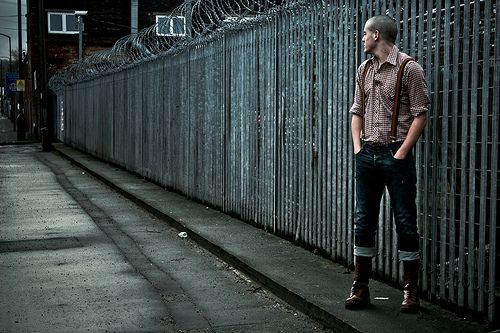 Love the skinhead fashion. Would sport it if it wouldn't make me look like a fucking nazi.    Jak © by Grace Alicia, via Flickr