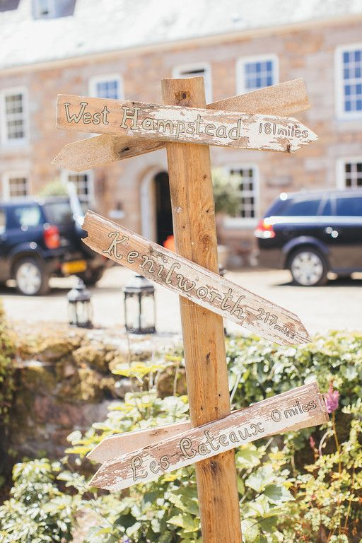Wedding sign. Important places to the bride and groom with distance. Photo 2 of 2