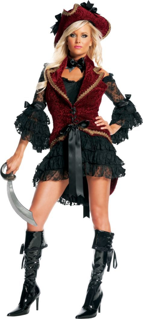 Adult Velvet Pirate Costume ($50.00-98.00) - Party City ONLINE