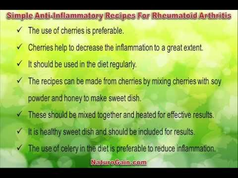 This video describes about effective and simple anti-inflammatory recipes for rheumatoid arthritis for fast relief. You can find more detail about Home recipes at http://www.naturogain.com
