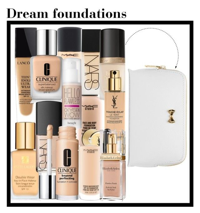 """Dream foundations kit"" by kiwijulin on Polyvore featuring beauty, Estée Lauder, Lancôme, MAC Cosmetics, Clinique, NARS Cosmetics, Benefit, Too Faced Cosmetics, Yves Saint Laurent and Elizabeth Arden"