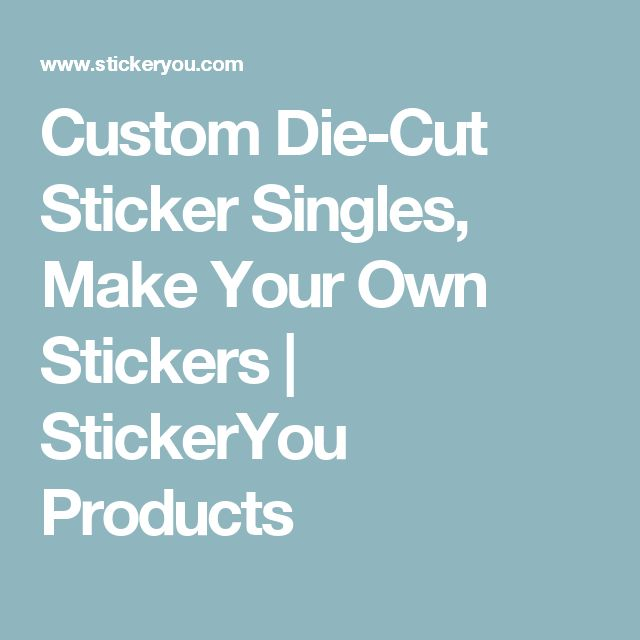Unique Custom Die Cut Stickers Ideas On Pinterest Surfer - Custom vinyl decal stickers for businesshigh quality custom stickers stickeryou products