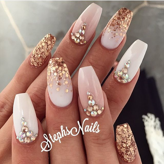 25 Best Ideas About White Nails On Pinterest: 25+ Bästa Bröllopsnaglar Idéerna På Pinterest