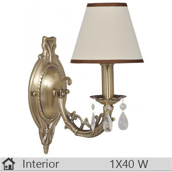 Aplica iluminat decorativ interior Klausen, gama Kena, model AP1 http://www.etbm.ro/aplica-iluminat-decorativ-interior-klausen-gama-meda-model-ap1