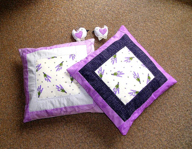 pillows, sewing, lavender