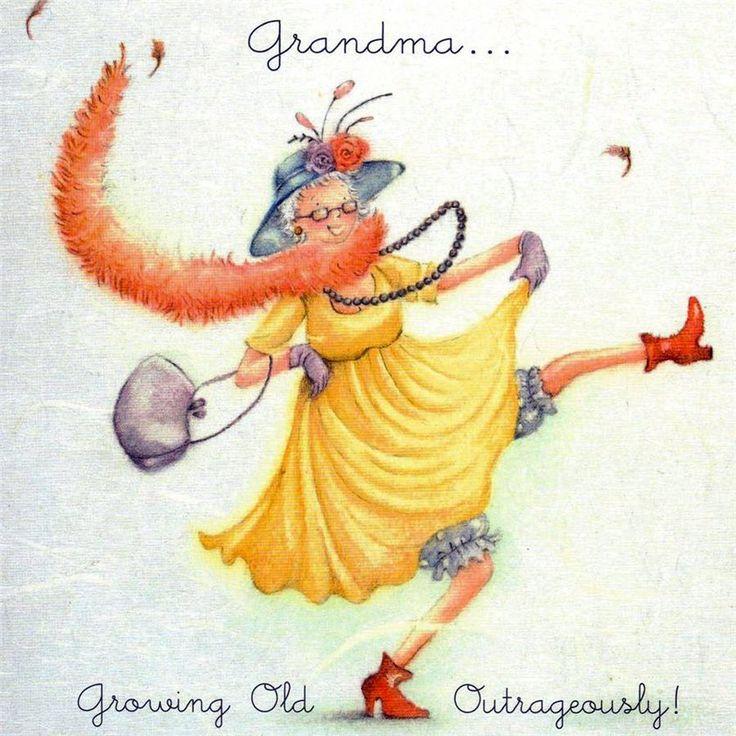 Grandma birthday growing old outrageously , Ladies Who Love Life ... Berni Parker funny cute art  Обсуждение на LiveInternet - Российский Сервис Онлайн-Дневников