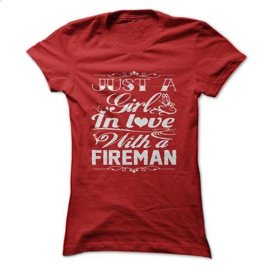 In love with a Fireman - #business shirts #best hoodies. ORDER NOW => https://www.sunfrog.com/LifeStyle/In-love-with-a-Fireman.html?60505