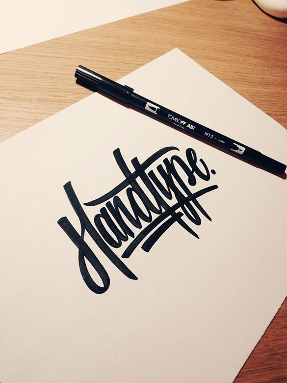 Learn calligraphy  Graphic Designer gift ideas-Tombow brush pen (image source: doitjeffstyledotcom)