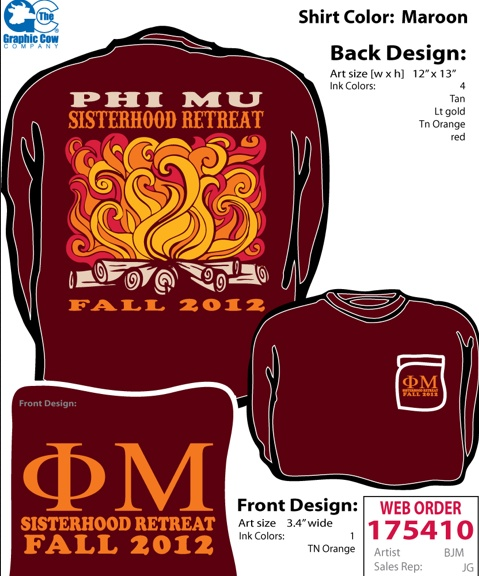 Ignore the Phi Mu but what if we did the camp fire design and put camp counselor in the fire or something like that ):