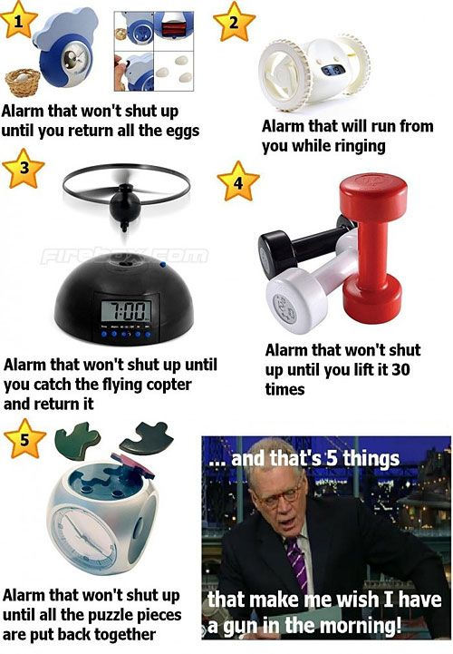 Can't believe those alarm clocks are real!