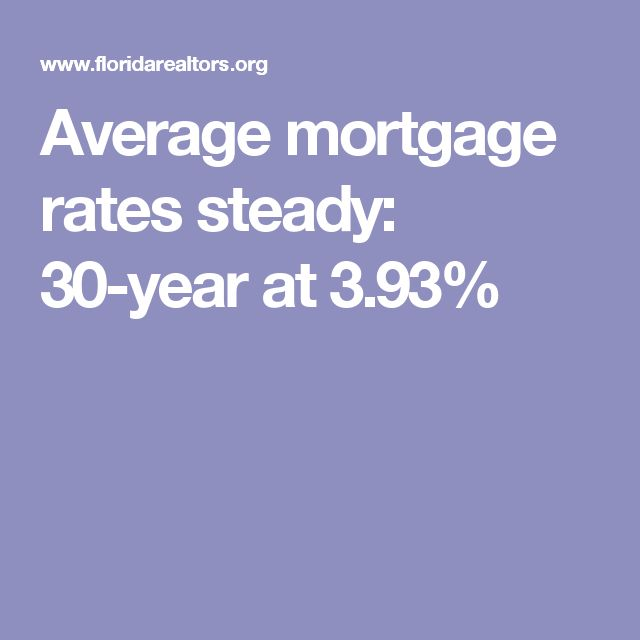 Average mortgage rates steady: 30-year at 3.93%
