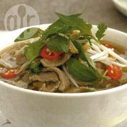 Sopa vietnamita de res (Pho) @ allrecipes.com.mx                                                                                                                                                     Más
