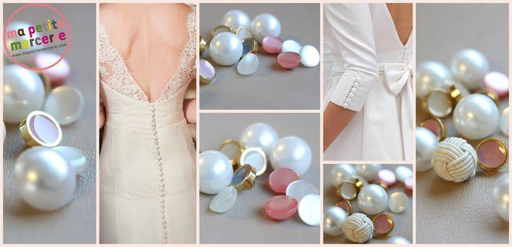 Chics, choc, discrets, bling-bling, les boutons sont le détail qui apporte la petite touche personnalisée à votre tenue des grands jours !