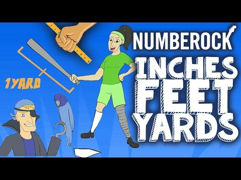 Inches, Feet and Yards Song ⋆ Measurement by NUMBEROCK - YouTube
