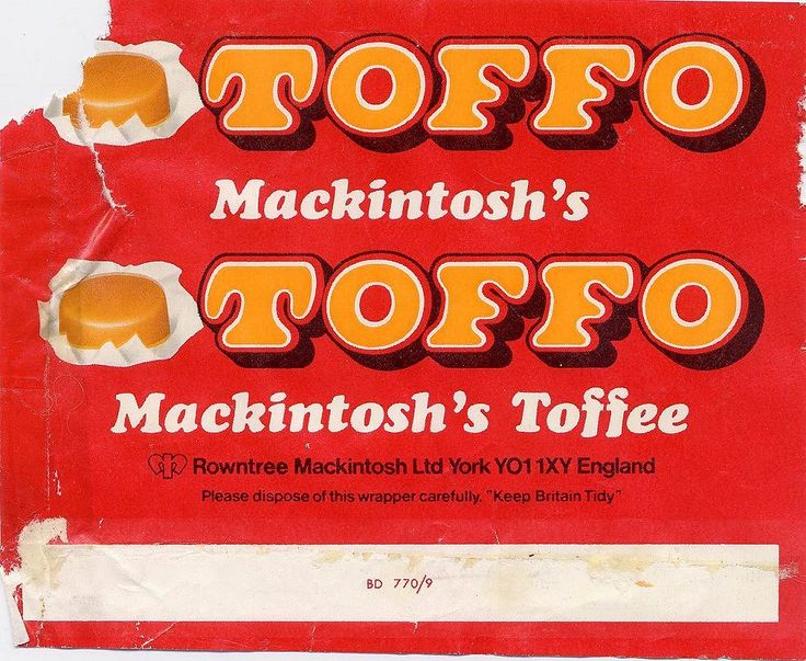 Toffo. Yum. Whatever your era, save your memories for psoterity at http://www.saveeverystep.com