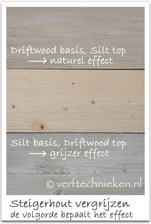 verftechnieken steigerhout effect